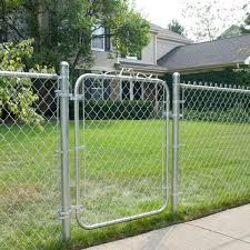 Yardgard 42 In W X 48 In H Galvanized Steel Bent Frame Walk Through Chain Link Fence Gate 328302a The Home Depot