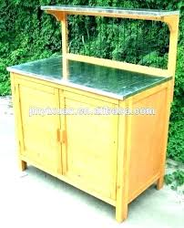 garden potting table bench ideas