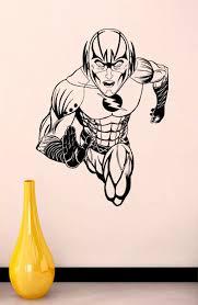 Dc Comics Vinyl Sticker The Flash Wall Art Decal Super Hero Etsy