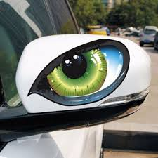 2pcs Car Decal Stickers Cat Eyes Life Changing Products