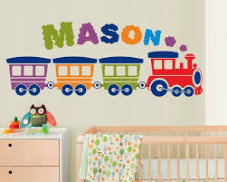 Nursery Personalized Boy Name Wall Decal Colorful Nursery Etsy
