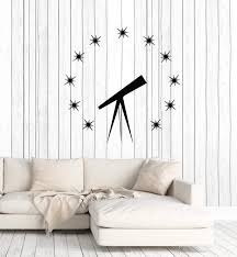 Vinyl Wall Decal Astronomy Science Stars Telescope Planetarium Decor S Wallstickers4you