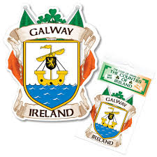 Galway Ireland County Decal Sticker Irish Gaa Auto Galway Ireland Galway Ireland