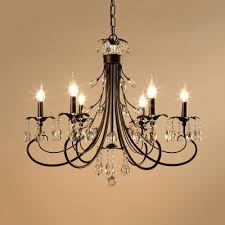 vintage black chandelier with candle