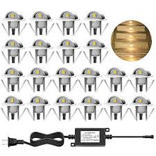 chnxu led deck step lights kit 20 pack