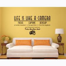 Quote Life Is Like A Camera Wall Stickers Photography Style Wall Vinyl Decal Photo Studio Decoration Window Poster Art Af087 Wall Stickers Aliexpress