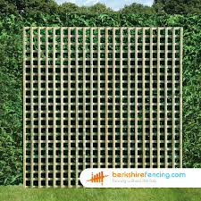 Rectangle Planed Square Trellis Fence Panels 1 5ft X 6ft Natural Berkshire Fencing