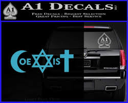 Muslim Jewish Christian Coexist D1 Decal Sticker A1 Decals