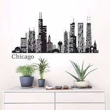 Chicago Cityscape Wall Decal Art Kit By Wallpops
