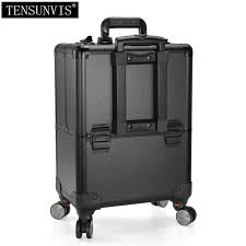 rolling makeup case cosmetic train