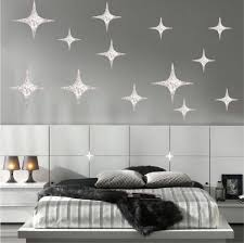 Silver Stars Wall Decals Christmas Murals Primedecals