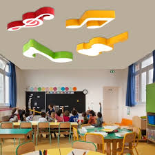 Acrylic Led Flush Light With Musical Note Colorful Decorative Led Ceiling Light For Baby Kids Room Beautifulhalo Com
