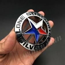 Metal Chrome Lone Star Texas Edition Car Trunk Rear Emblem Badge Decal Stickers Car Decor Emblems Texas Edition