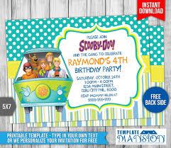 Free Scooby Doo Birthday Invitation Invitaciones De Fiesta