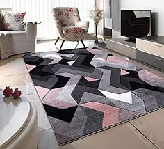 Blush Pink Silver White Grey Puzzle Small Medium Xx Large Rug New Modern Soft Thick Carved Carpet Non Shed Runner Bedroom Living Room Area Rug Mat 120 X 170 Cms Amazon Co Uk Kitchen