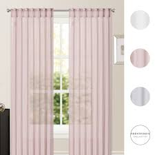 sheer voile net curtains hidden tab top