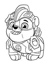 Kids N Fun Kleurplaat Paw Patrol Mighty Pups Paw Patrol Rubble