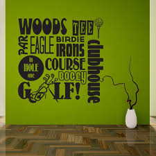 Golf Tee Irons Course Woods Par Hole In One Vinyl Wall Decal Wall Quote Wall Decor