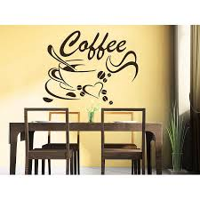 Shop Coffee Beans Coffee Cup Decal Cafe Drinks Kitchen Bar Wall Decor Sticker Decal Size 22x26 Color Black Overstock 14198976