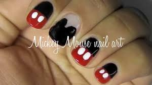 Mickey mouse nail art tutorial: 2 designs - YouTube
