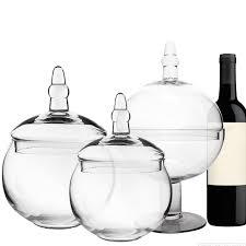 glass large apothecary candy buffet jar