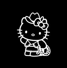 Hello Kitty Cowgirl Window Decal Sticker Custom Sticker Shop