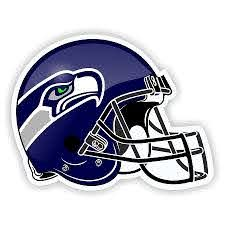 Helmet Seattle Seahawks Die Cut Decal Sticker 4 Sizes