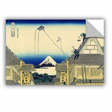 Artwall Mitsui Shop On Suruga Street In Edo By Katsushika Hokusai Graphic Art Removable Wall Decal Wayfair