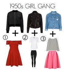 how to get 1950s girl gang style