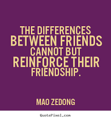 mao zedong poster quotes the differences between friends cannot