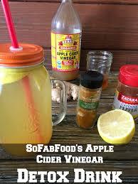 apple cider vinegar and lemon detox drink