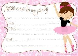 Printable Free Ballerina Party Invitations Cumpleanos De