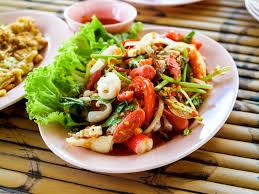 dish, green, lunch, seafood, salad ...