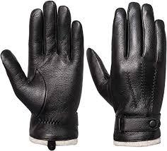 mens genuine leather gloves winter