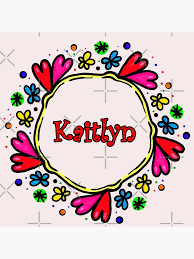 Personalized Name Kaitlyn Wall Art Redbubble