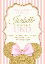 Invitation Invitaciones Minnie Tarjeta De Cumpleanos Minnie