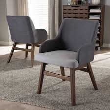 Set Of 2 Mid Century Modern Gray Dining Room Chairs Monte Rc Willey Furniture Store