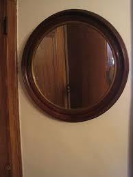 antique walnut round wood frame with