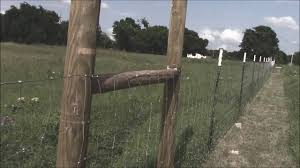 How To Stretch A Fence Youtube