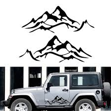 1pair Car Sticker Car Body Decal Mountain Graphic Vinyl For Jeep Wrangler Rubicon Sahara Ku 54 Car Stickers Aliexpress