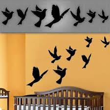 Flying Birds Wall Decals Nursery Wall Stickers Dove Decals 6 14 689853925519 Ebay