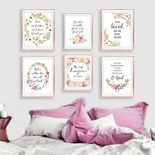 bible verse inspirational quotes posters and prints watercolor