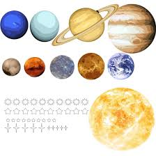 Vwaq Solar System Wall Decals Peel And Stick Planets Outer Space Universe Stickers Sol01 Large 44 W X 42 H Walmart Com Walmart Com