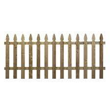 3 5 Ft X 8 Ft Pressure Treated Pine French Gothic Fence Panel 73000129 The Home Depot In 2020 Fence Panels Picket Fence Panels Fence