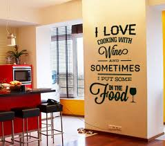 Wall Decal Quotes I Love Cooking With Wine Quote Sticker Home Decor For Kitchens Housewares Vinyl On Luulla