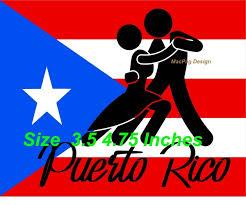 Puerto Rico Flag Car Sticker Decal Puerto Rican Salsa Dance Flag Boricua Wish
