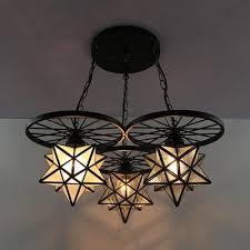 hanging light with wheel art glass