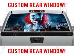 Scary It Clown Halloween Rear Window Perforated Decal For Gmc Dodge Chevy Ford Ebay