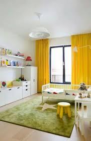 Yellow Curtain Minimalist Kids Room Simple Kids Rooms Kids Bedroom Decor
