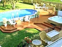 above ground pool landscaping photos
